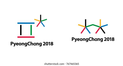 Concept logo of South Korea's PyeongChang 2018