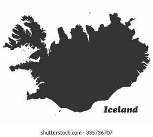 Concept map of Iceland, vector design Illustration.