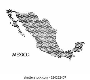 Concept map of Mexico, vector design Illustration.
