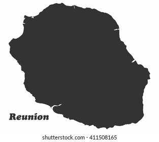 Concept map of Reunion, vector design Illustration.