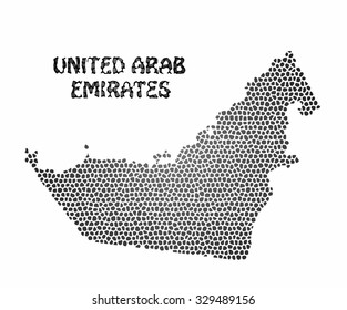 Concept map of United Arab Emirates, vector design Illustration.