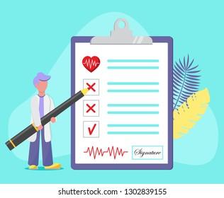 Imágenes, fotos de stock y vectores sobre Doctor Checking Heart Beat