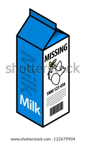 Milk Carton With A Missing