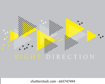Concept modern style geometry design element. vector illustration for header, card, poster, invitation. Tech line grid pattern triangle motif.