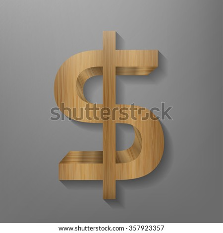 Wooden Bookshelf Form Of Dollar Sign The Literature About Money