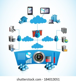 Concept of networking,Employees, People, systems connecting various private and public networks through firewall from home, office, third parties, and monitoring the network and applications