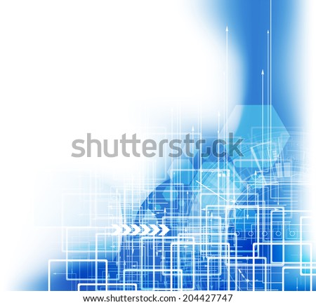 concept new technology corporate business development stock vector