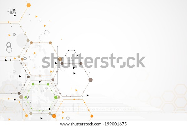 Concept for New Technology Corporate Business & development background