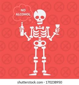 Concept on theme no alcohol