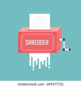 Concept of Paper Shredder. Vector illustration.
