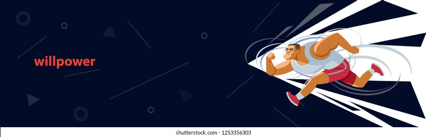 The concept of perseverance. Vector illustration for strength, leadership, success and willpower for web page, banner, presentation, social media, documents, cards, posters. Vector illustration
