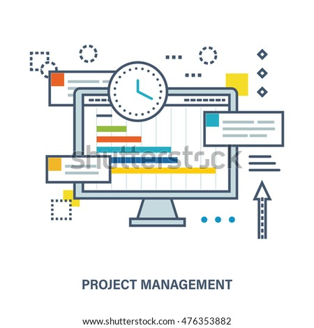 concept project management schedule tasks planning stock vector