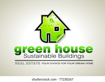 Concept of REAL ESTATE Ecology constructions Flyer