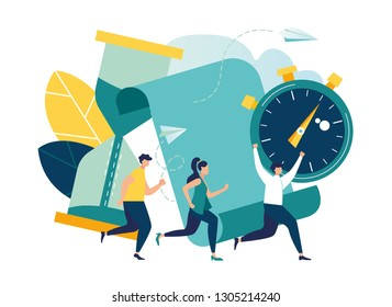 Concept save time, Money saving. Times is money. Business and management, Piggybank, time is money, financial investments in stock market future income growth