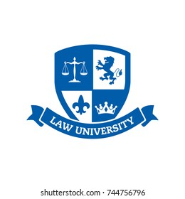 Concept for school, university, study, education, law and legal business. Sign, symbol, logo. Vector illustration.  Vector Logo Template