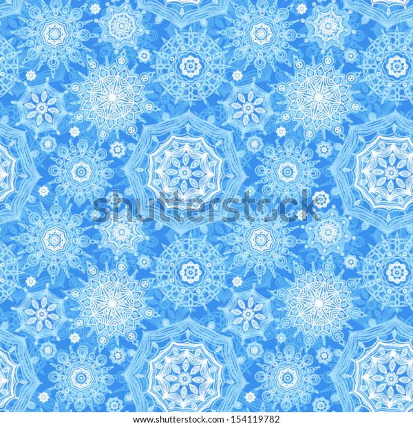 Concept seamless pattern with snowflakes. Light winter background. It can be used for wallpaper, pattern fills, web page background, surface textures.