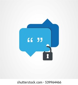 Concept of security chat sign. This graphic also represents secure communication for various social needs.