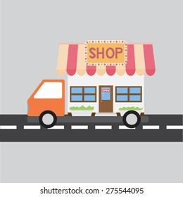 concept of shipping shop
