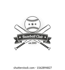 Concept for shirt or logo, print, stamp or tee. Vintage typography design with baseball bats, catcher, eagle and ball for baseball silhouette.