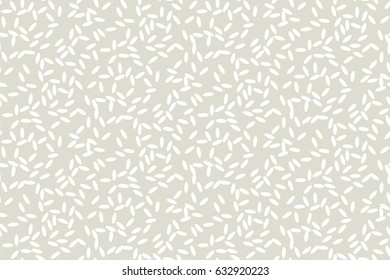 Concept simple rice grain pattern on light background. Vector illustration for background, fabric, wrapping paper, print and web with traditional wealth and happiness symbol