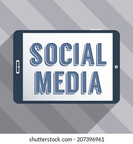 Concept for social network and social media. Flat design illustration.