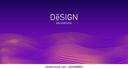 Concept sports background. Motion blend shape. Line wave background design. Wave dynamic soundwave. Abstract creative vector illustration for banner, cover, template, poster, layout, flyer.