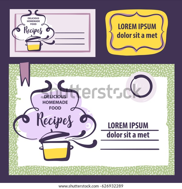 Concept template element design with abstract cooking pan isolated on white background. Hand-drawn logo for delicious homemade food recipe.