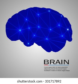The concept of thinking. Background with brain. Vector illustration.