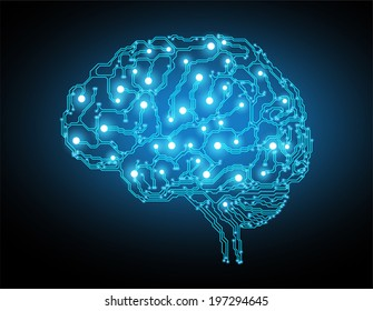 the concept of thinking.background with brain