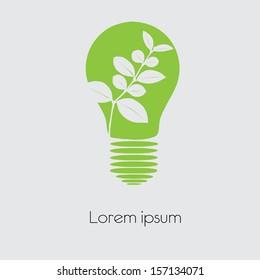 Concept  tree in light bulb symbol of renewable energy