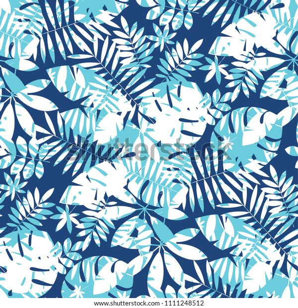 Concept Tropical Leaves Seamless Pattern Geometric Stock Vector Royalty Free 1111248512 Free for commercial use no attribution required high quality images. shutterstock