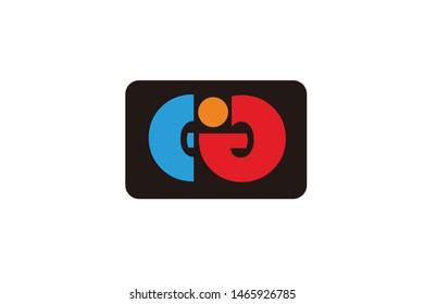 Concept vector icon letter E I J