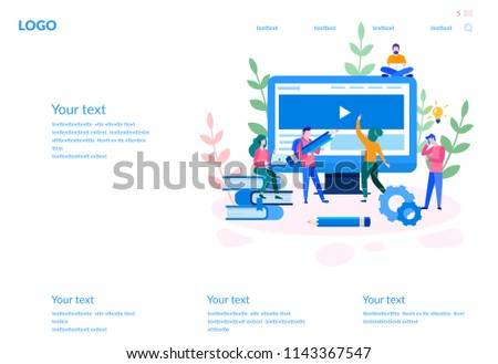 concept web design development creative website stock vector