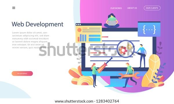 Concept Web Design Development Creative Website Stock Vector Royalty Free 1283402764