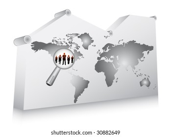 Concept of world biz