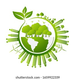 Concept World environment and sustainable development , vector illustration