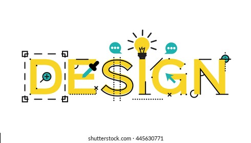concepts of words design. vector illustration concept for website, banners and mobile website