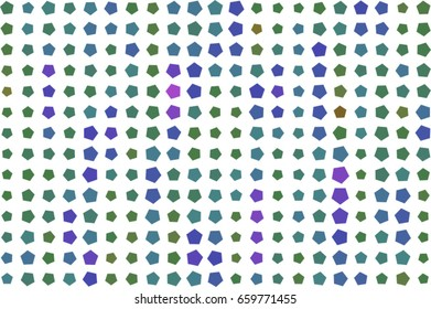 Conceptual background pentagon pattern for design. Style of mosaic or tile. Vector illustration graphic.