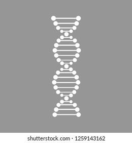 Conceptual chemistry scene - DNA structure - 3d render.Vector illusration.