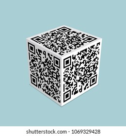 Conceptual design of two-dimensional code,  Is the shape of the rubik's cube.