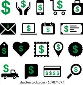 Conceptual Dollar icons