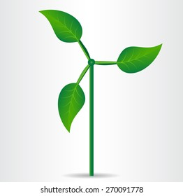 Conceptual eco icon. Vector illustration.