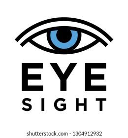 Conceptual eyesight test icon. Vision health sign. Medical eye symbol. Vector illustration.