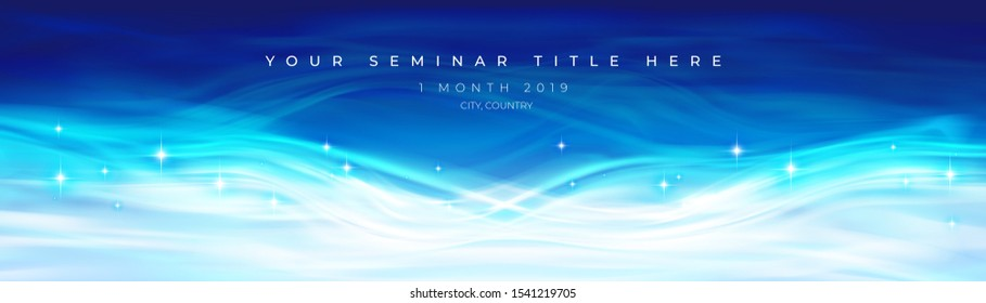 A conceptual illustration of abstract graphic in water theme for stage backdrop, LED background, seminar backdrop.