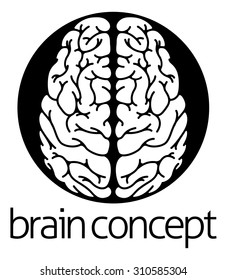 A conceptual illustration of the human brain from the top circle concept design