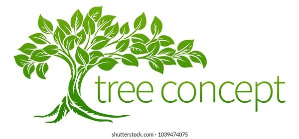 A conceptual illustration of a tree icon
