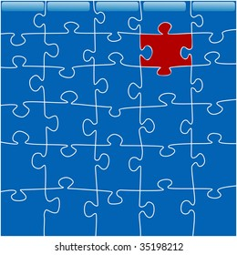 conceptual image of a jigsaw puzzle