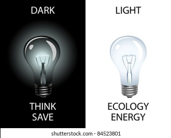 Conceptual image suggesting to save energy and preserve environment. Vector illustration.