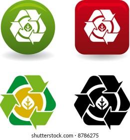conceptual leaf recycling symbol