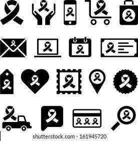 Conceptual Looped Ribbon icons